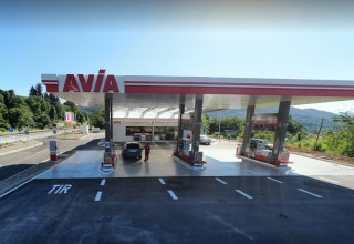 AVIA petrol station HEMUS 45KM  on the main road A2, E79
